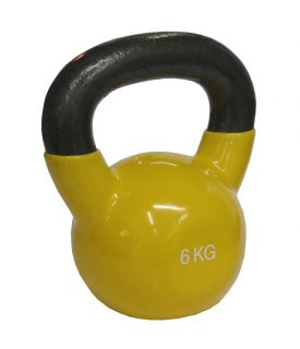 CorbySport Kettlebell Činka 6 kg, vinylový potah