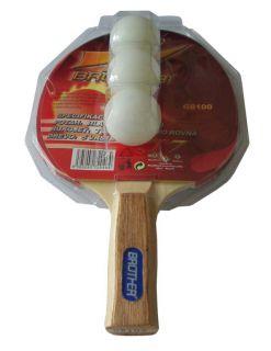 Pálka na stolní tenis (Pingpongová pálka) 2-star s míčky
