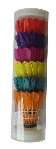 Košíčky badmintonové péřové 6ks barevné