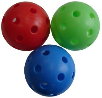 CorbySport Florbalový míček necertifikovaný barevný