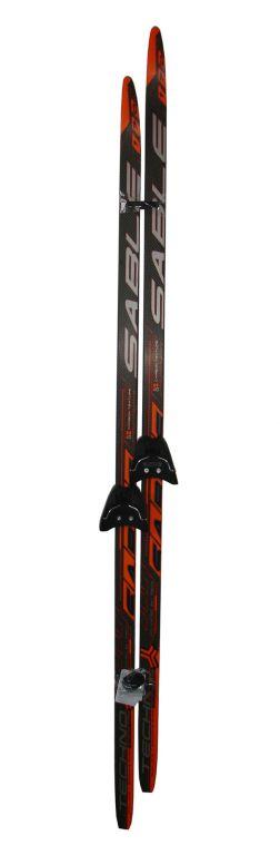 Běžecký set - lyže + vázání 75 mm - 170 cm