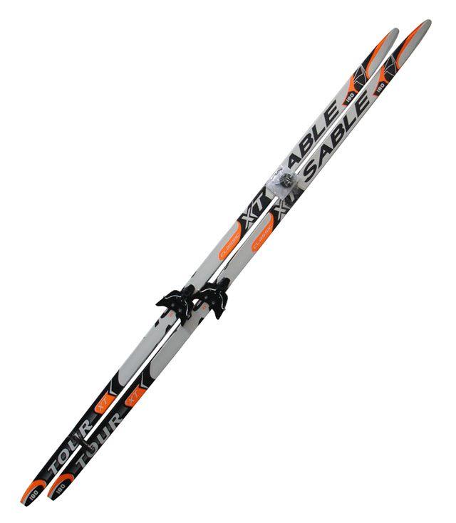 Běžecký set - lyže + vázání 75 mm - 180 cm