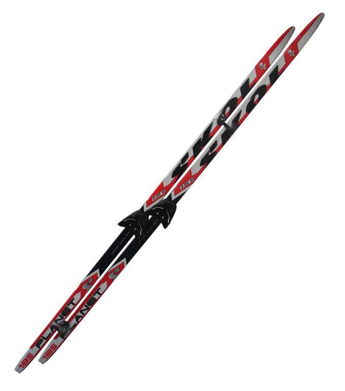 Běžecký set - lyže + vázání 75 mm195 cm