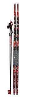 Běžecký set - lyže 160cm + vázání + hole