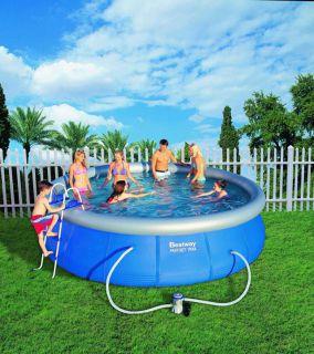 Bestway  Samostavěcí zahradní bazén 457 x 107 cm s příslušenstvím