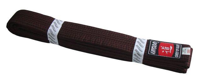 Pásek ke kimonu KATSUDO- hnědý