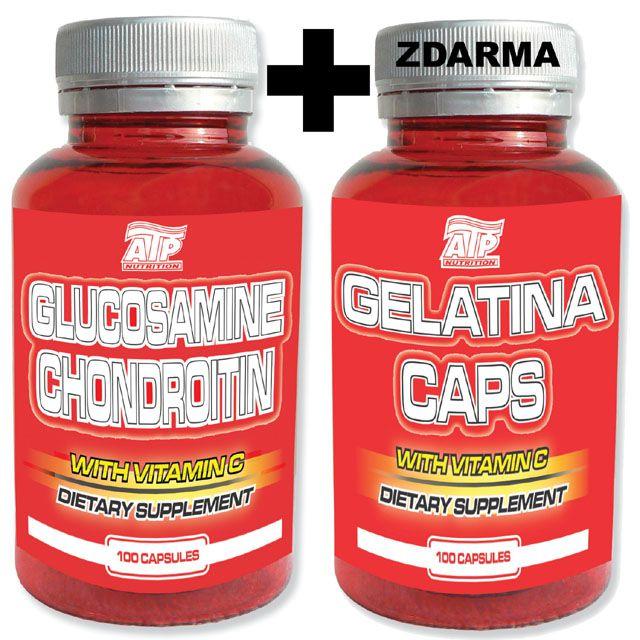 ATP Glukosamin Chondroitin 100 kapslí + Gelatina Caps 100 kapslí