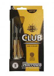 Šipky s plastovým hrotem HARROWS SOFT CLUB BRASS 16g