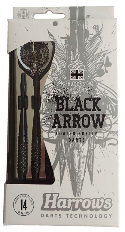 Šipky s plastovým hrotem HARROWS SOFT BLACK ARROW 14g