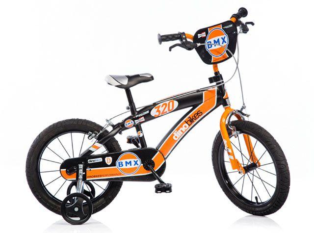 """Dino BMX 165XC černo - oranžové 16"""" dětské kolo"""