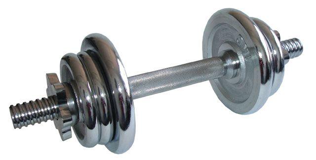 Oem nakládací činka jednoruční chromovaná 5,5 kg