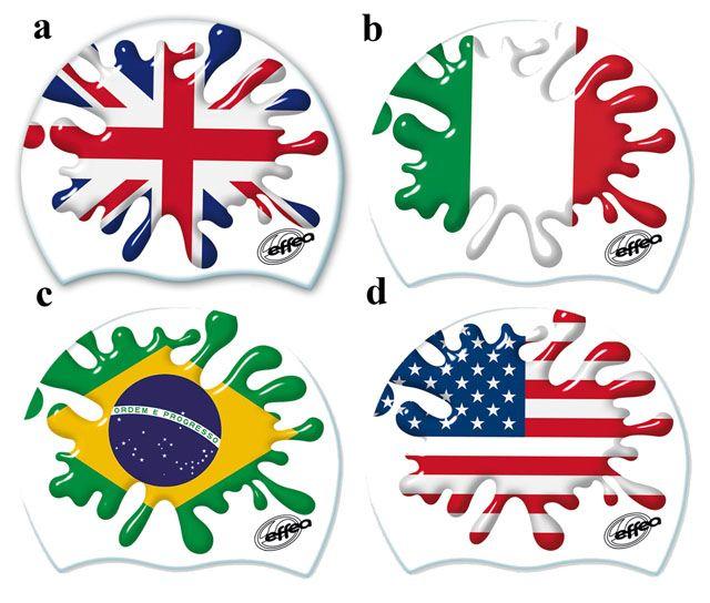 Čepice plavecká silikonová - vlajky