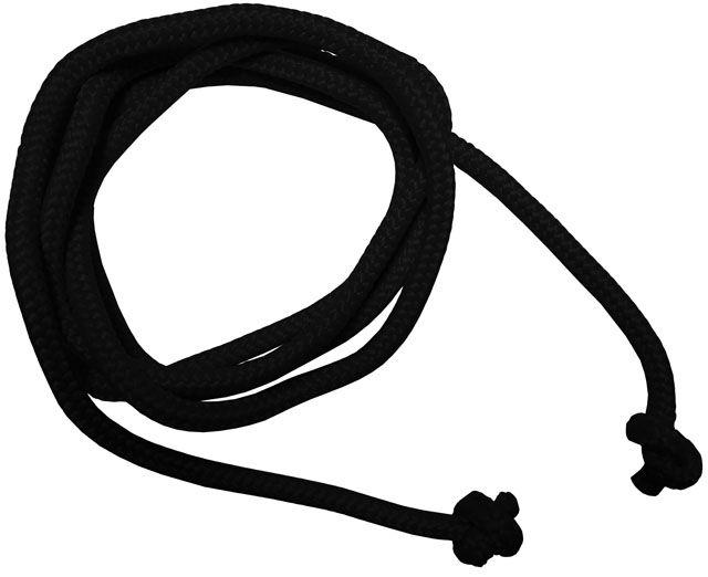 Gymnastické švihadlo – 3 m, černé