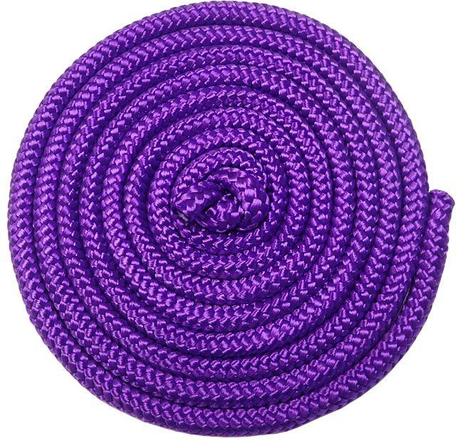 Gymnastické švihadlo - 3 m, fialové