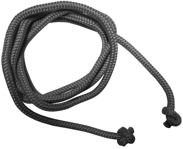 Gymnastické švihadlo - 3 m, šedé