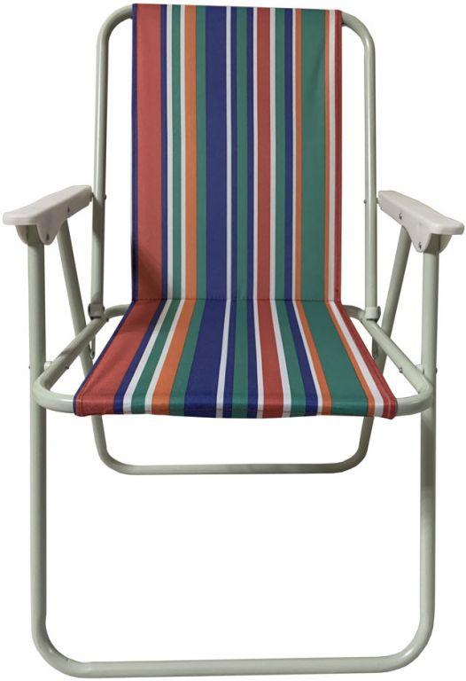 Skládací campingové křeslo - 50 x 48 x 76 cm, barevná