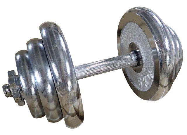 Činka nakládací jednoruční chromovaná - 20 kg