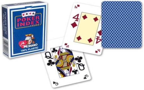 Modiano mini Karty 4 rohy - Tmavě Modrá