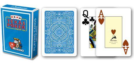 Modiano 2 rohy 100% plastové karty – Světle modré