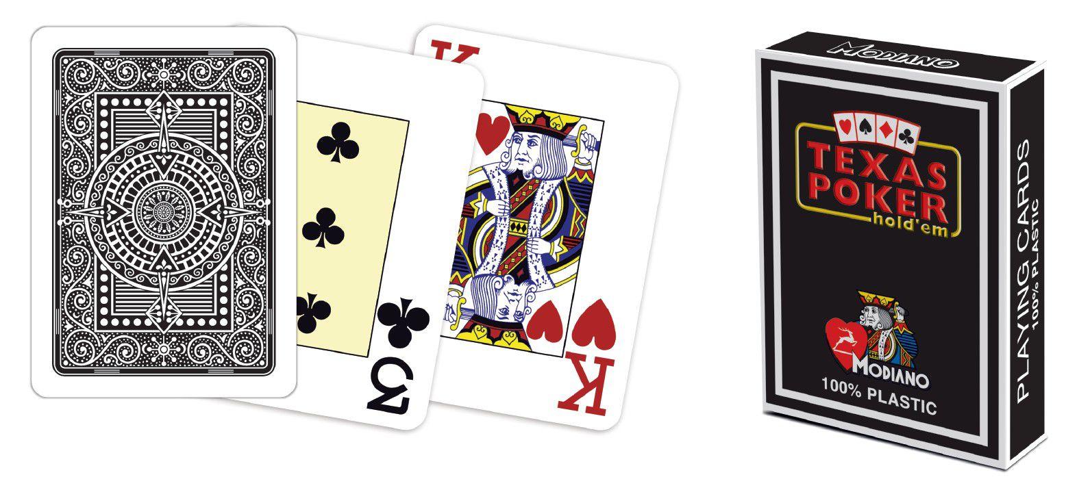 Modiano 2 rohy 100% plastové karty - černé