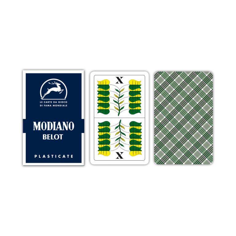 Modiano Belot dvouhlavé mariášky 100% plast - modré