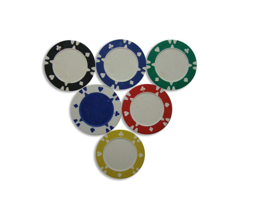 Kusový žeton design Flop bílý - 1 ks