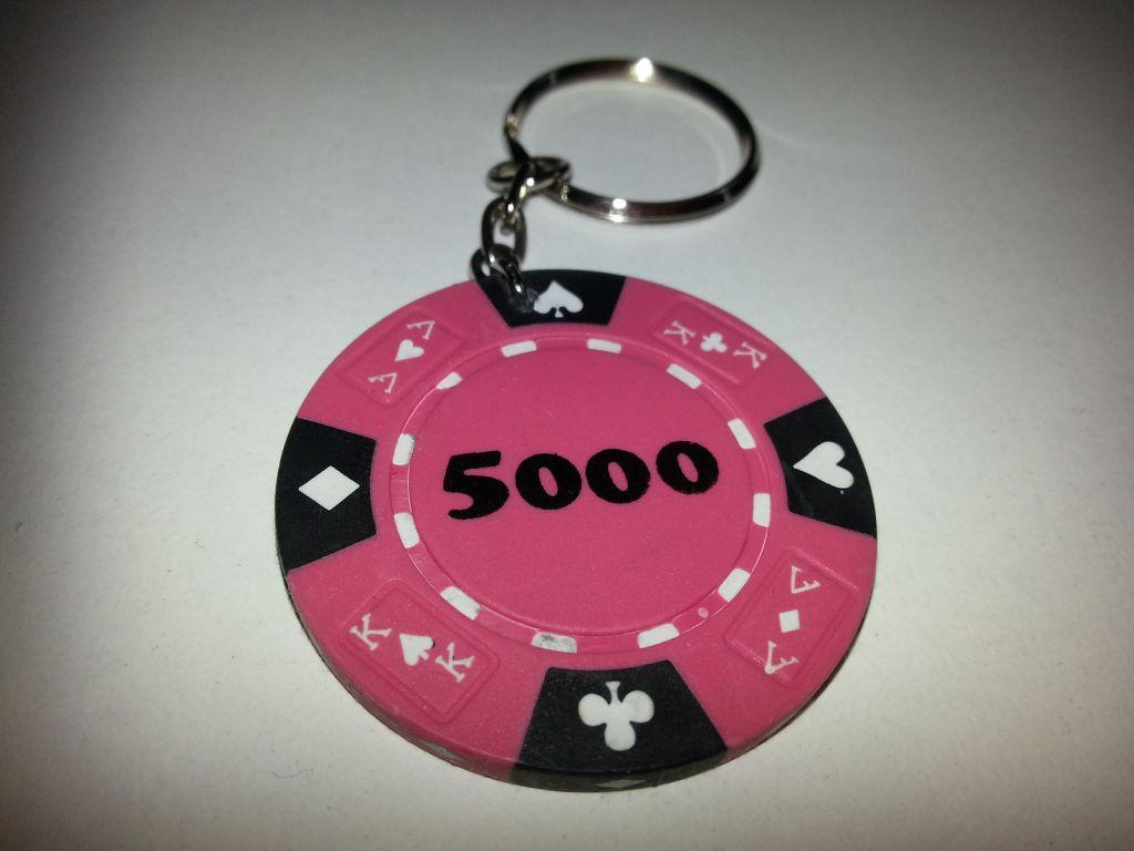Pokerový přívěšek růžový 48 ks