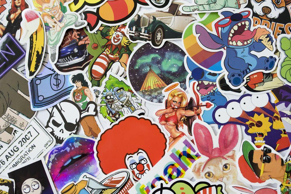 Sticker bomb - Sada samolepek, mix 100 ks