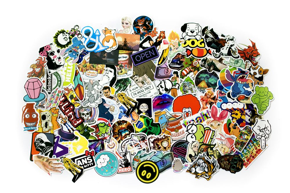 Sticker bomb - Sada samolepek, mix 100 ks