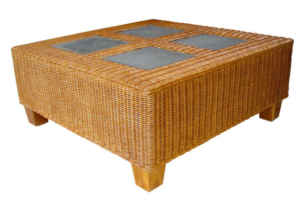 TOSCA ratanový stůl - lávové kameny