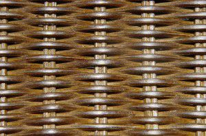 Rohový ratanový regál - 3 police, tmavý med