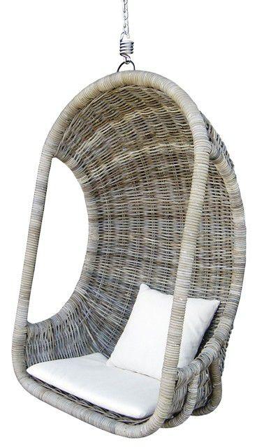 Závěsná ratanová houpačka