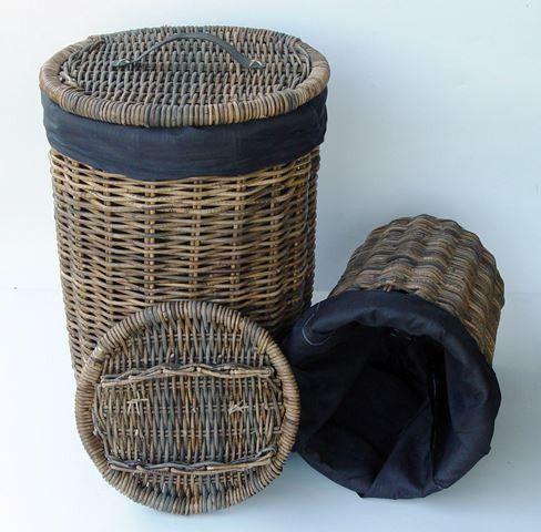 Ratanový koš na prádlo WASMAND - velký
