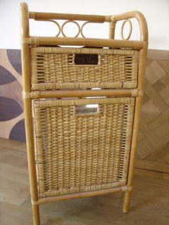 Ratanový kabinet, prádelník - tmavý med