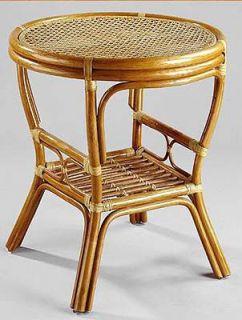 PELANGI ratanový stůl kulatý výplet - světlý med