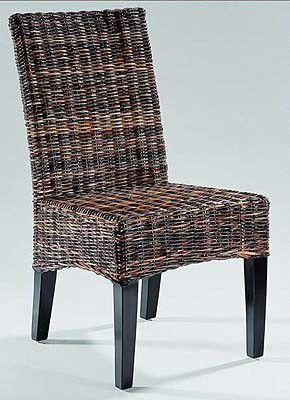 Ratanová židle FREDY- černý ratan