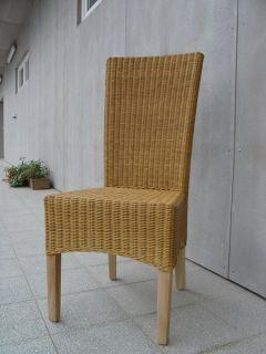 LASIO židle - SVĚTLÝ MED / RATAN