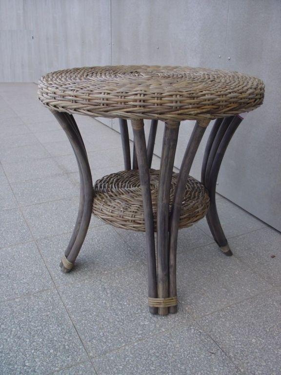 BLANKA ratanový stůl šedivý ratan