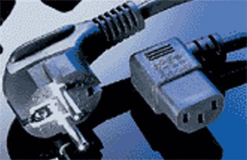 Kabel Value síťový  220V 2m 90°  (pro zdroj, monitor)