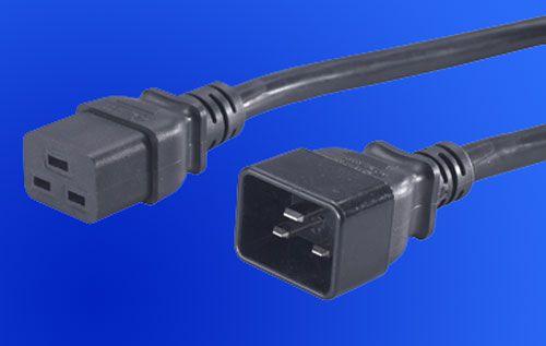 Kabel síťový prodlužovací 220V 16A (IEC320-C19/C20) 3m (pro zdroj, monitor)