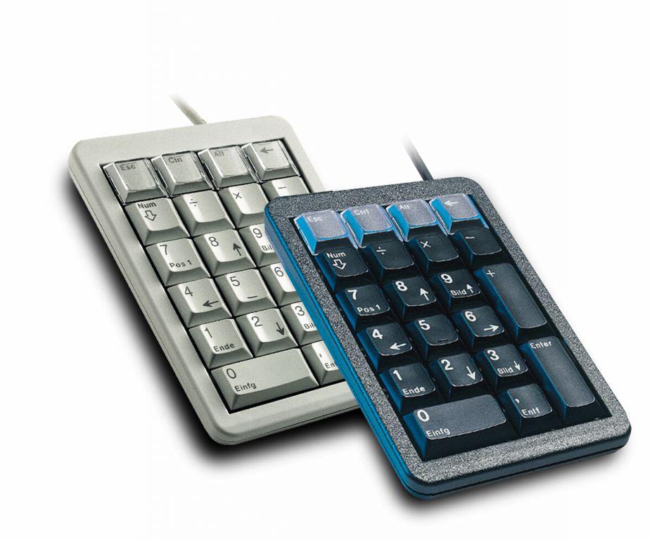 Klávesnice Cherry G84-4700LUCDE-2, KEY, USB, numerická , tmavá, DE