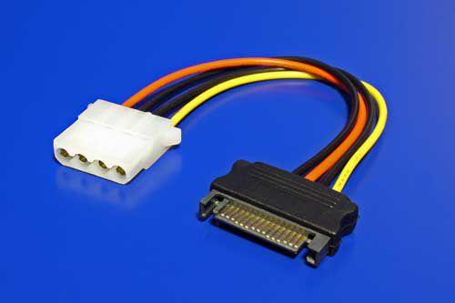 Kabel napájecí SATA na FDD5.25, 17cm