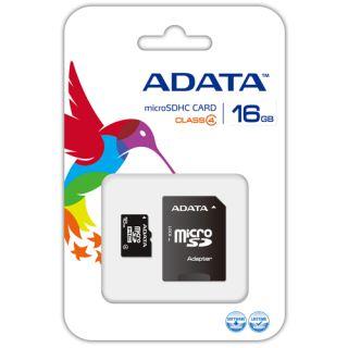 Paměťová karta Adata MicroSDHC 16GB Class4 + adaptér