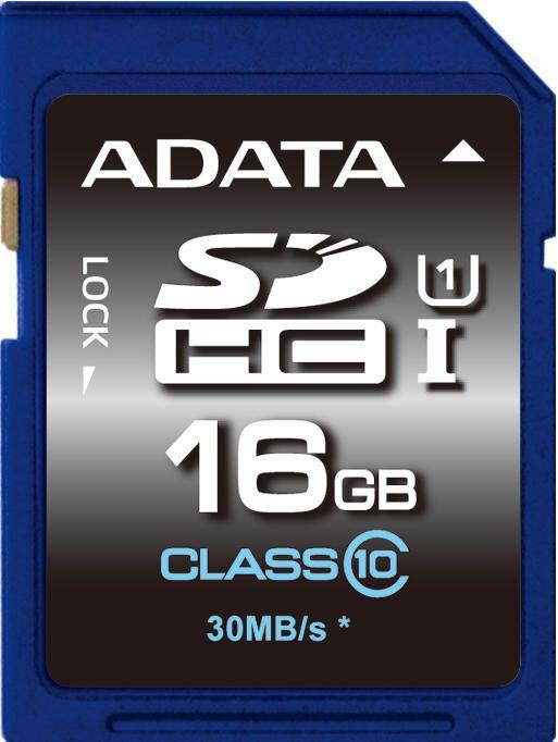 Paměťová karta Adata SDHC Premier 16GB Class10 UHS-1