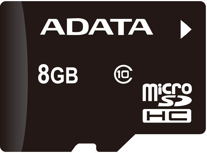 Paměťová karta Adata MicroSDHC Premier 8GB Class10 UHS-I + adaptér