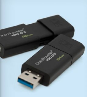 Flashdisk Kingston DataTraveler 100 G3 64GB, USB 3.0