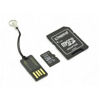 Paměťová karta Kingston microSDHC Class 10 32GB + adaptér + microSD čtečka Gen2 class 10