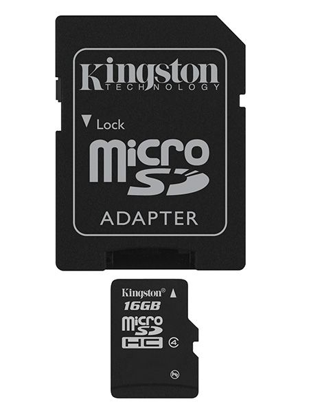 Kingston microSDHC 16GB Class 4 SDC4/16GB