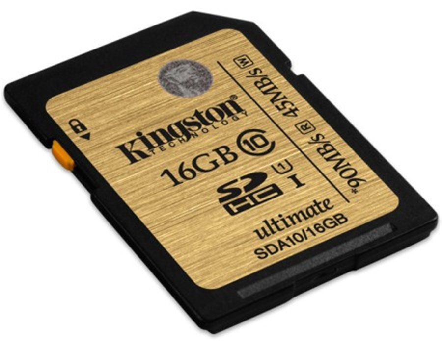 Paměťová karta Kingston SDHC Ultimate UHS-I 16GB, class 10