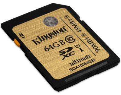 Paměťová karta Kingston SDXC Ultimate UHS-I 64GB, class 10